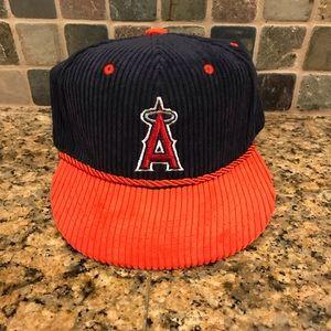 4d192d08a75 sixth man Accessories - Vintage Anaheim Angels Farmer John MLB Hat